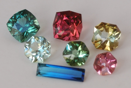 Faceted Tourmaline Gemstones from Afghanistan and Nigeria