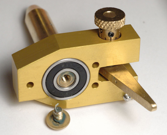 Omni Faceting Machine Quill and Yoke Assembly with Screw Removed