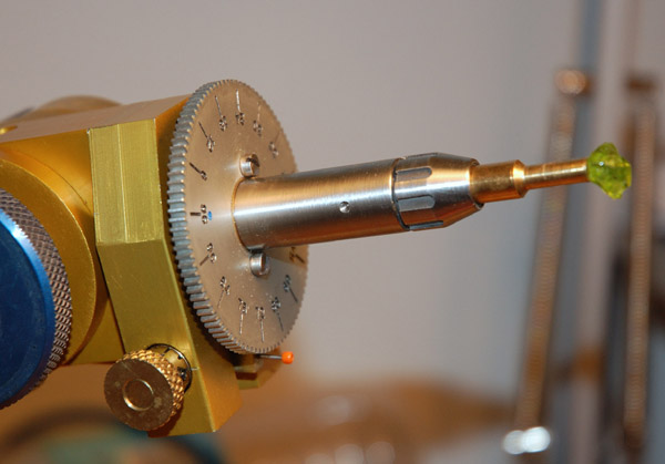 New Collet Quill Mounted on the Omni-E Faceting Machine