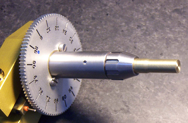 Custom Stainless Steel Omni Quill with Collet - under 0.0007 runout at tip of dop!