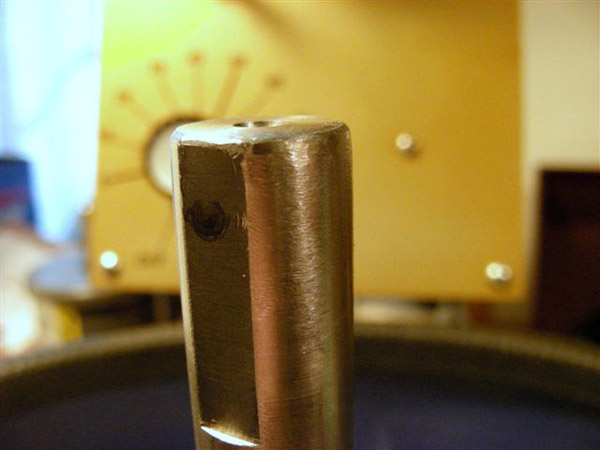 Close Up of his Omni Faceting Machine Spindle End